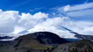 Mount Elbrus with Floating Clouds  Time-lapse 4K video