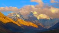 Mount Everest HD timelapse video. Tibet. China video