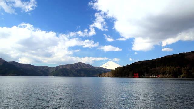 Mount Fuji and Lake Ashi, Hakone National Park, Japan. video