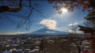 Mount Fuji and Running Cloud video