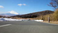 Mount Fuji view Driving,Rear View video