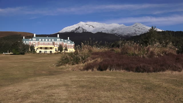 Mount Ruapehu and The Chateau in Tongariro National Park video