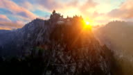 Mount Rushmore at sunset, camera fly video