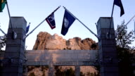 Mount Rushmore National Memorial with Flags video