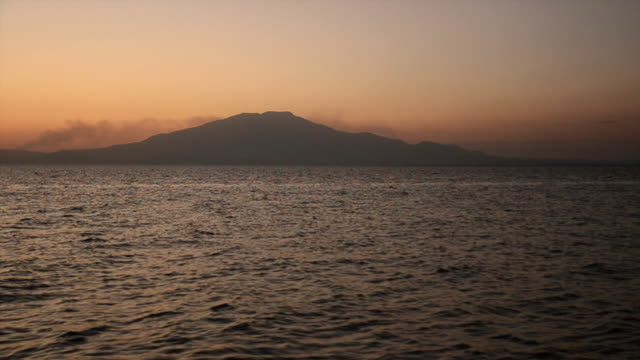 Mount Suphan during sunset moment video