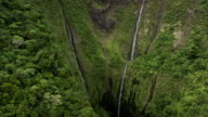 Mount Wialeale Crater, Kauai, Hawaii, the wettest place on earth, Aerial Shot video