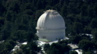 Mount Wilson Observatory  - Aerial View - California,  Los Angeles County,  United States video