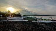 Mountain Agung at Amed Beach Bali video