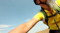 Mountain bicycle cycling, cross country ride video