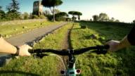 Mountain Bike on the Via Appia Antica and Aqueduct video