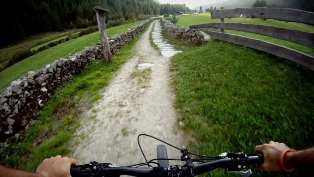 Mountain Bike Video: a Single Track on the Alps video