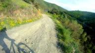 mountain biker fast downhill sport race ride Stock Video video