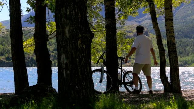 Mountain Biker Takes a Break video