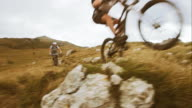 Mountain bikes passing by video