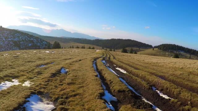 Mountain biking in a beautiful day - POV video