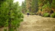 Mountain biking on a bike trail video
