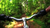 HD Mountain Biking Through Spring Forest video