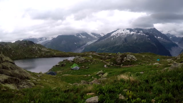 Mountain Camping in the Alps video