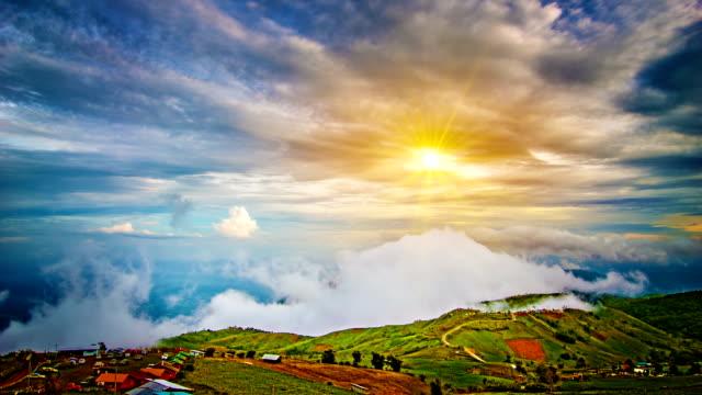 Mountain, cloud, sun video