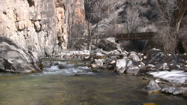 mountain creek with bridge video