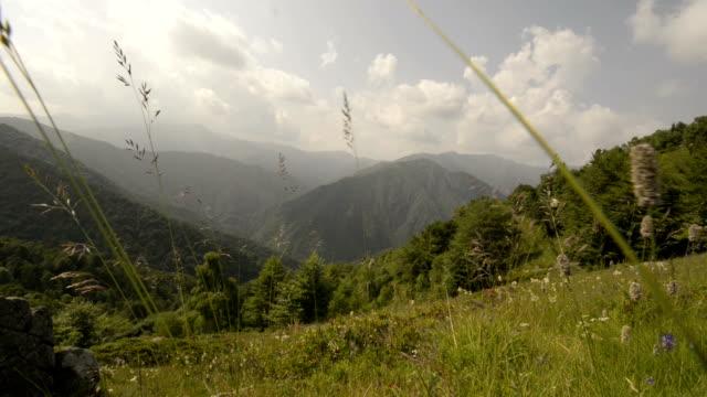 Mountain fiels in sunny day video HD video