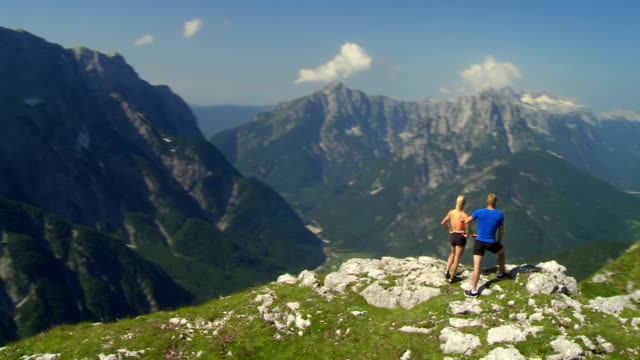 HD: Mountain Hikers Enjoying The View video