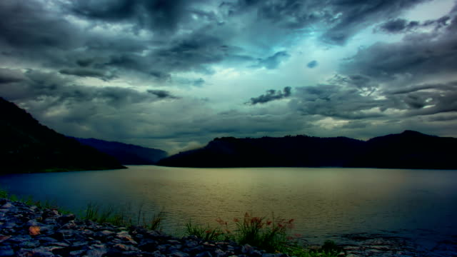 Mountain Lake in the evening video