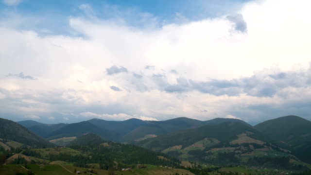 Mountain landscape and clouds time lapse video