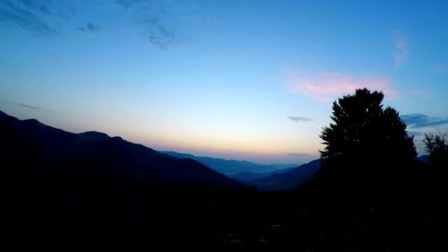 Mountain Landscape. Sunrise. video
