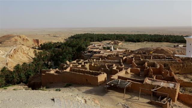 Mountain oasis Chebika in desert of Tunisia video