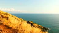 Mountain Ocean Landscape View. Beautiful Coast Line. video