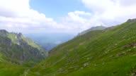 Mountain Peak In Bucegi Mountains On Sunny Day video