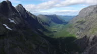 Mountain peaks around Trollstigen pass in Norway video