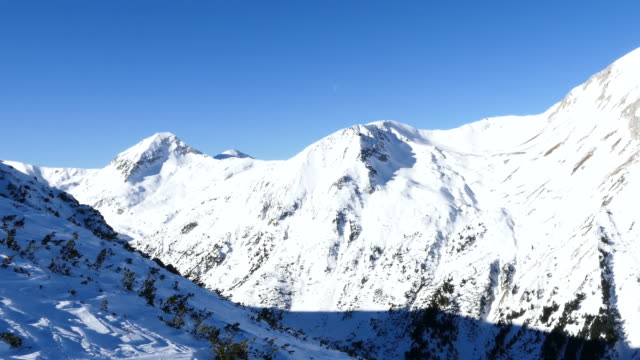 4K Mountain range landscape video