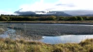 Mountain Range with Water in New Zealand video
