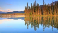 Mountain reflection in lake video