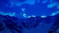 Mountain ridge and snow video