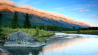 Mountain river in the Canadian Rockies video