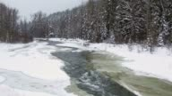 Mountain River in Winter video