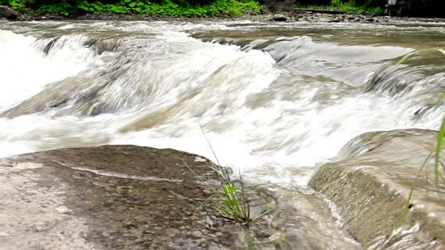 Mountain river pan video