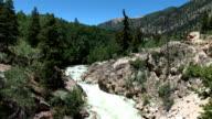 Mountain River Rushing Through Small Canyon video
