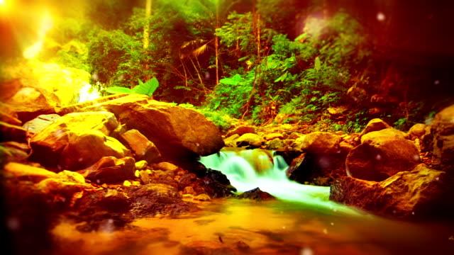 Mountain river. video