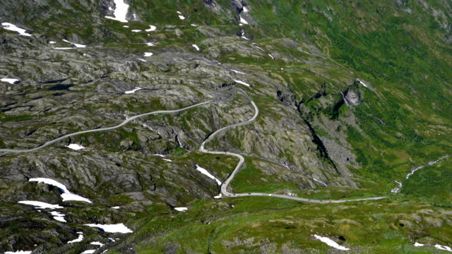Mountain road in Norway. video