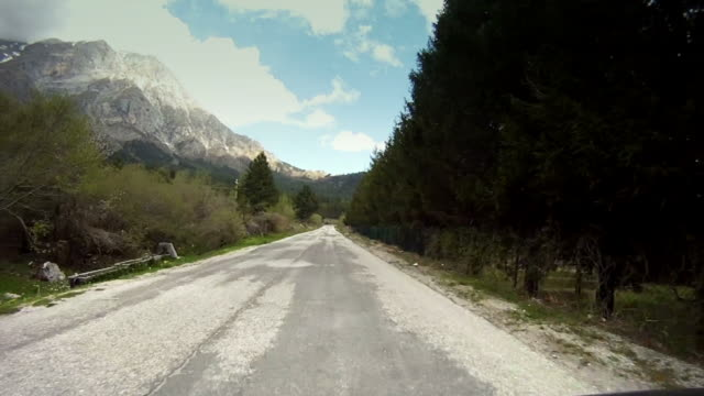Mountain Road Pass Accelerated video