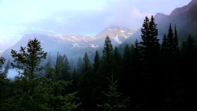 Mountain Scene, time lapse video