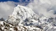 Mountain scenery in Nepal . timelapse video