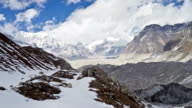 Mountain scenery in Sagarmatha National Park. Ngozumpa glacier in Nepal. video