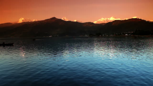 Mountain scenic at sunset video