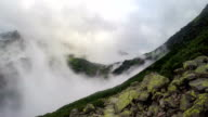 Mountain side in the clouds video