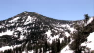 Mountain snow Utah fly up video